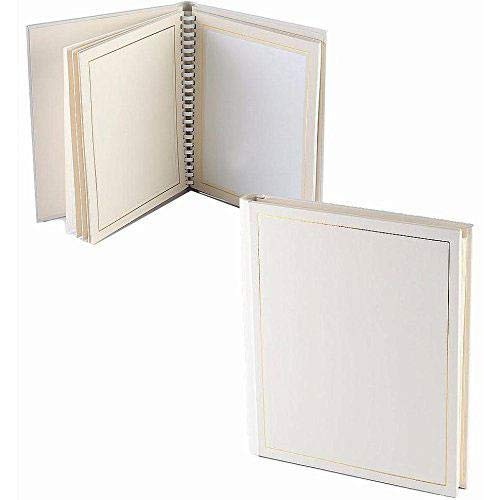 Professional PARADE white/gold slip-in mat photo album for 20 5x7 prints TAP® - 5x7 by TAP® (Image #1)