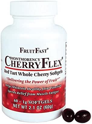 CherryFlex by FruitFast - 100% Red Tart Cherry Concentrate Supplement - 60 Count - Non-GMO and Gluten Free - Promotes Healthy Joint Function