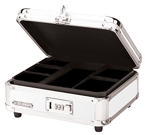 Vaultz Locking Cash Box, 9.875 x 4.875 x 8.5 Inches, White (VZ00172) (Ideastream Vaultz Cash Box)