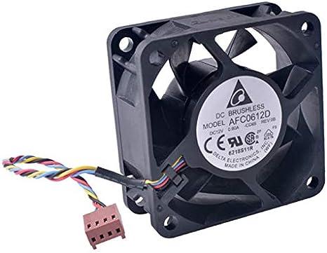 Delta Ventilador PC afc0612d 60 x 60 x 20 mm DC 12 V 4-Pin ...