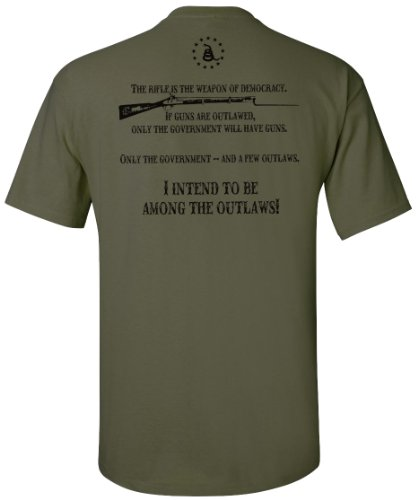 American Outlaw Military Green T-Shirt - 2X