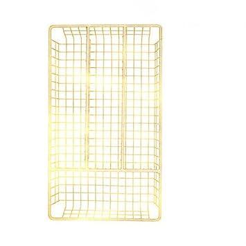 Deluxe ahorro de espacio Royal oro bandeja de cubertería pequeña, cocina cajón organizador - L: 32 cm x W: 18,5 cm x H: 4 cm): Amazon.es: Hogar