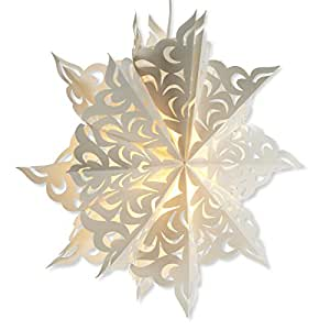 Abbott Collection Paper Cutout Snowflake Hanging Lamp