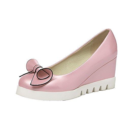 Tacco Medio Ballet Rosa Donna Tirare Flats Luccichio VogueZone009 Z1p4xq