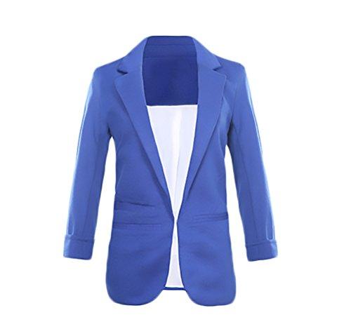 Grande Blazer Solapa Ropa De Outcoat Slim Abrigos Otoño 3 Colores Bolsillos Negocios Elegantes Señoras Mujer Wear Chaquetas Sólidos Talla Tumblr Fit Mangas Casual 4 Para Blazers Office PEqrE
