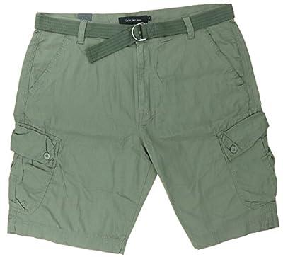 Calvin Klein Jeans Mens Belted Cargo Shorts