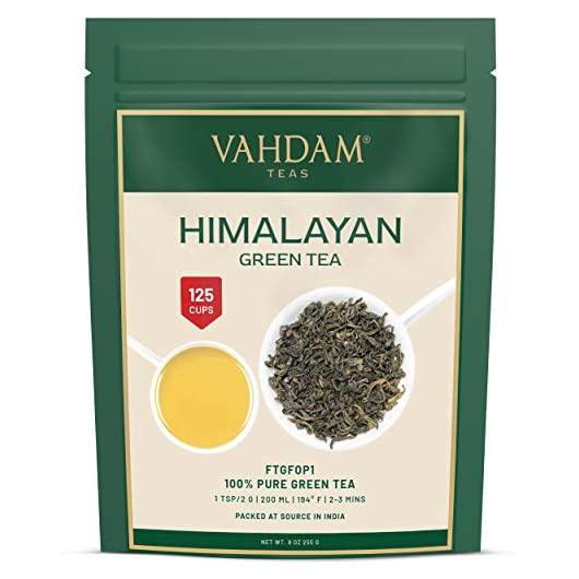 VAHDAM, Green Tea Leaves from Himalayas, (100+ Cups) 255g | 100% Natural Tea | Powerful Anti-OXIDANTS | Brew Hot Tea…
