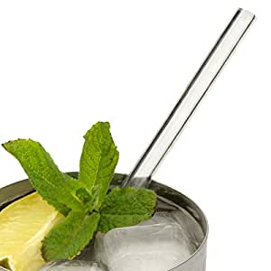 89d935c52f Glass Drinking Straws 6.25inch - Pack of 6