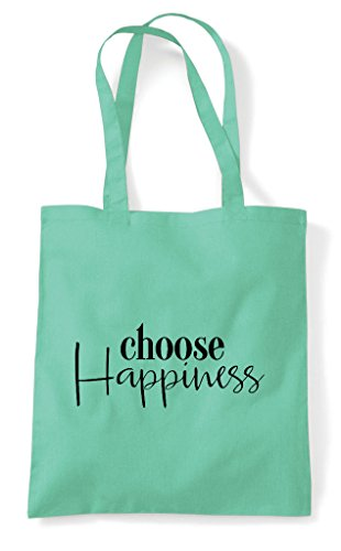 Choose Shopper Bag Statement Mint Tote Happiness wqwAPT