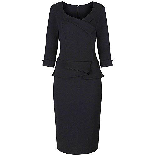 Pretty Kitty Fashion Damen Etui Kleid schwarz schwarz