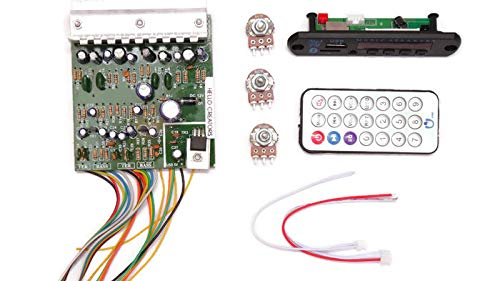 Combo 0f 4440 IC DIY Audio Boards 40 + 40W Amplifier With Bluetooth FM with  Remote and volume Bass Treble pot