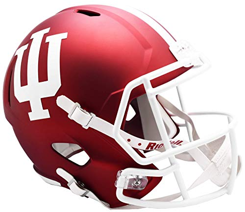 Riddell NCAA Indiana Hoosiers Helmet Full Size ReplicaHelmet Replica Full Size Speed Style, Team Colors, One Size