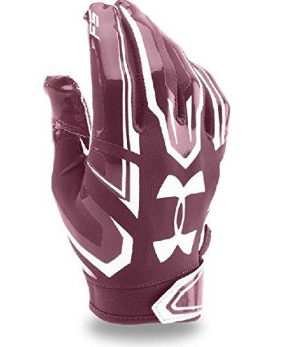 Under Armour F5 American Football Handschuhe - Maroon 609 (Small)