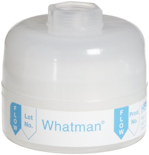 Whatman 2609T Hepa-Cap 36 In-Line Venting Filter, 60 psi Maximum Pressure, Inlet 3/8'' FNPT, Outlet 3/8'' FNPT by Whatman