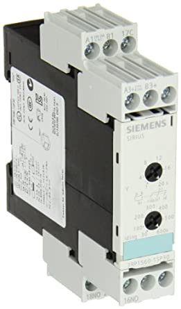 2f4322bb38c Siemens 3RP1560-1SP30 Solid State Time Relay Industrial Housing 22.5mm  Screw Terminal Star Delta