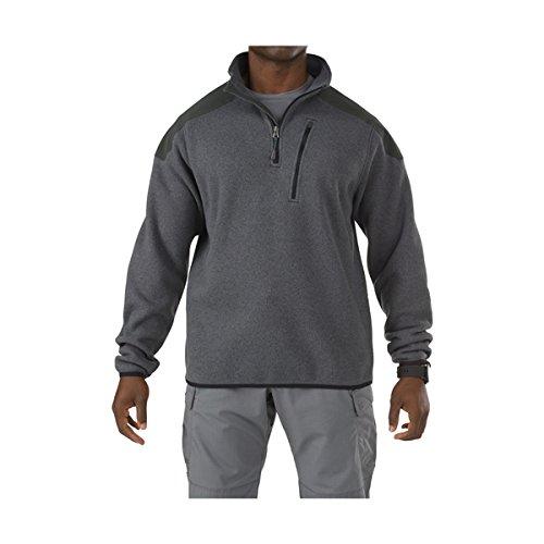 5.11 Outerwear Tactical Jackets (5.11 Men's Tactical Quarter Zip Sweater, Gun Powder, Large)