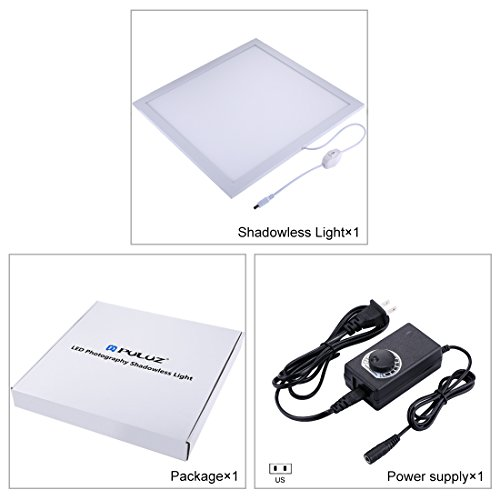 PULUZ Photo Studio Fill Light LED Shadowless Light Panel 15in X 15in / 38 x 38 cm Dimmable Photography Softbox Bottom Light for Food Jewelry Cosmetic Crafts US Plug by PULUZ (Image #5)