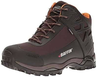 Baffin Men's Blizzard Snow Boot, Chocolate/Orange, 7 M US