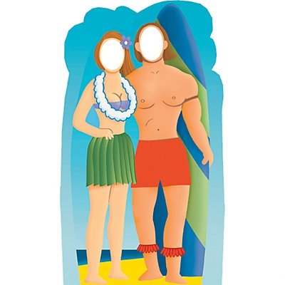 Surfboard Couple Stand-In Stand-Up (Surfboard Couple Stand)