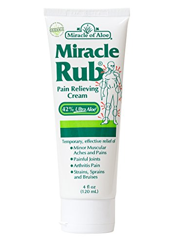 (Miracle of Aloe, Miracle Rub Pain Relieving Cream with 42% UltraAloe - 4 ounce tube)