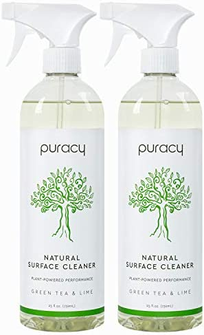 Puracy All Purpose Cleaner, Streak-Free, Food Safe Natural Household Multi-Surface Spray, 25 Ounce (2-Pack)