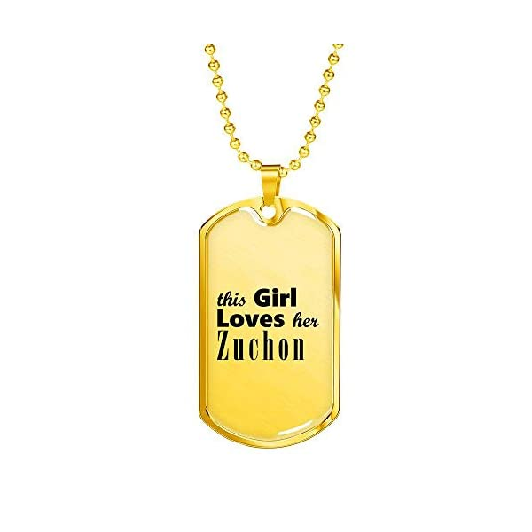 Zuchon - 18k Gold Finished Luxury Dog Tag Necklace Lover Owner Mom Birthday Gifts Jewelry 1