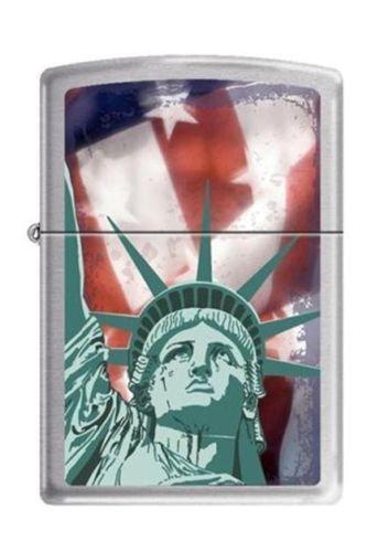 Zippo Statue Of Liberty Brushed Chrome Finish ()