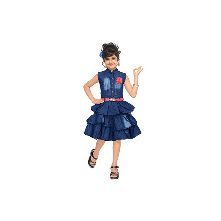 41O6FToXRbL. SS768  - 4 YOU Girls' Knee Length Dress.