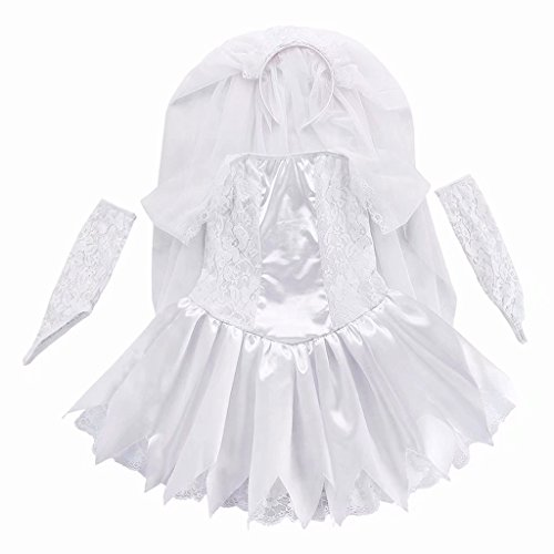 Girls Ghost bride Halloween Cosplay Costume Wedding Party Dress by Tsyllyp (Image #2)
