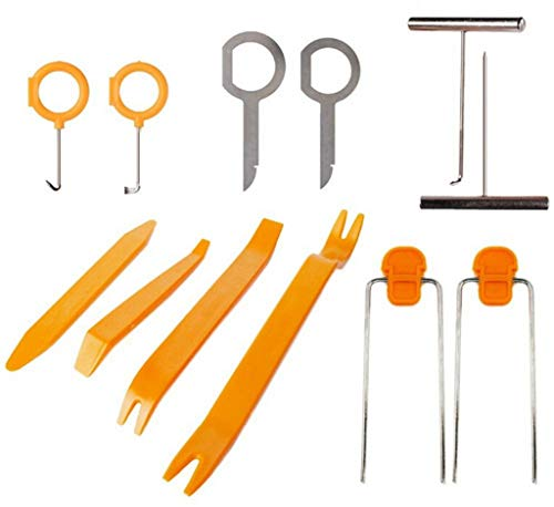 MChoice❤️12pcs Car Door Clip Panel Dash Radio Moulding Audio Removal Pry Trim Tools Kit (Best Proof Keyboards For Htcs)