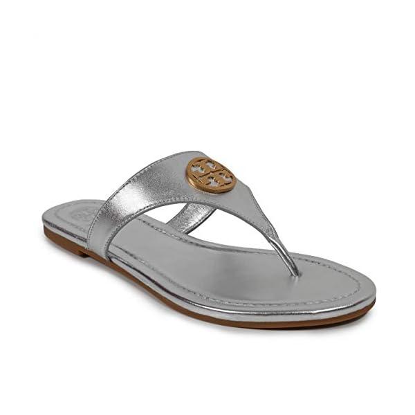 Tory Burch Women's Leather Benton Flat Thong Sandals Perfect Black 006