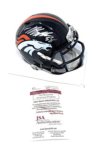 - Von Miller Denver Broncos Signed Autograph Speed Mini Helmet JSA Witnessed Certified