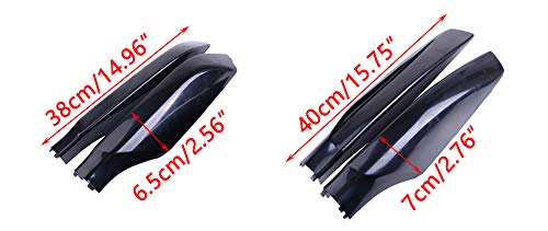CITALL Roof Rack Rail End Bar Luggage Carrier Cover Shell