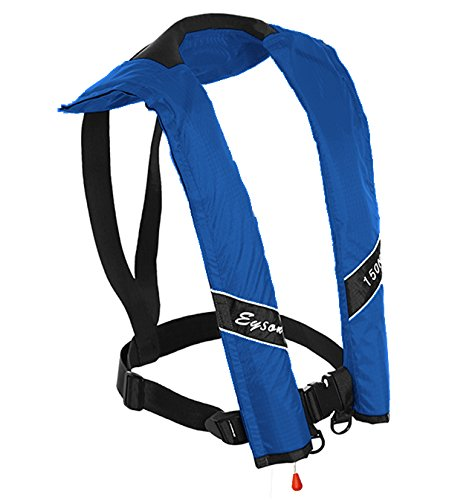 Eyson Slim Inflatable PFD Life Jacket Life Vest Adult Manual (Blue)