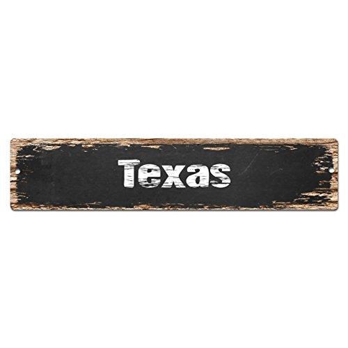 Texas Sign Vintage Rustic Street Sign Plate Beach Bar Pub