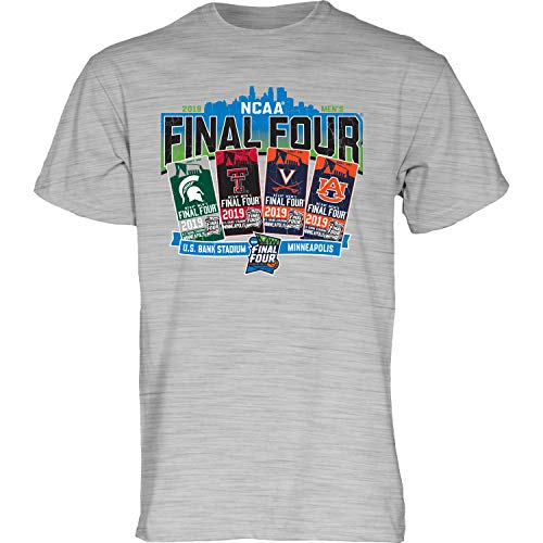 Blue 84 2019 NCAA Final Four Team Logos March Madness Minneapolis Ticket T-Shirt (S) (Ncaa Team Logos)