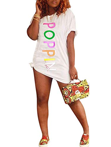White T-shirt Club (Women Tank Sleeveless Letters Print Bodycon Bandage Tassels Club Party Midi Pencil Dress White)