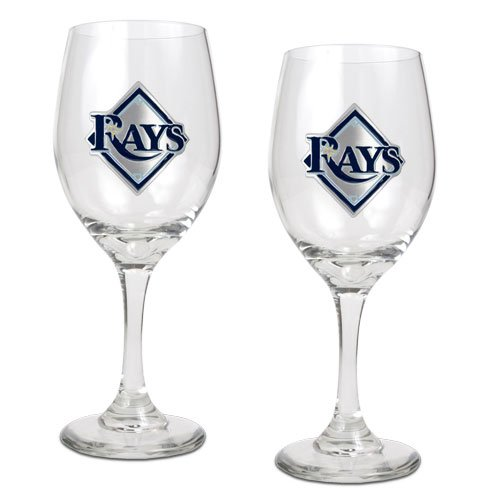Tampa Bay Rays Glass (MLB Tampa Bay Rays 14-Ounce Wine Glass (Set of)