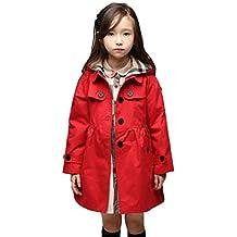 EkarLam® Children Girls Fall Spring Hooded Poncho Outwear Jacket Trenchcoat