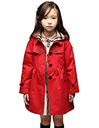 Lemonkids® Children Girls Fall Spring Hooded Poncho Outwear Jacket Trenchcoat