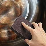 Jaminy 1Pc/2Pcs/3Pcs/4Pcs Magic Sponge Carborundum Brush, Kitchen Washing Cleaning Kitchen Cleaner Tool for Pot Teapot Kettle Descaling Large Area Flexible (4pcs)