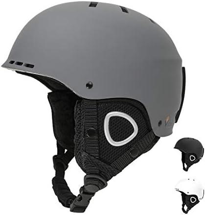Vihir Adult Winter Ski Snow Helmet 2-in-1 Convertible Sports Skateboard Helmet for Men Women
