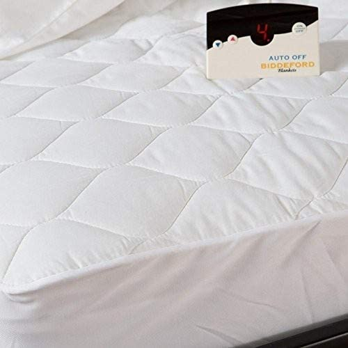 Natural Biddeford 5201-505222-100 54 by 75-Inch Quilted Skirt Heated Mattress Pad Full