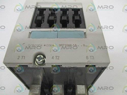 Siemens 3RT10 44-1AC20 Motor Contactor, 3 Poles, Screw Terminals, S3 Frame Size, 24V at 50 and 60Hz AC Coil Voltage Voltage