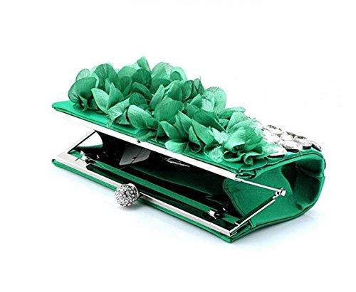 Flor De La Cena Del Bolso De Tarde Del Bolso Lindo Green