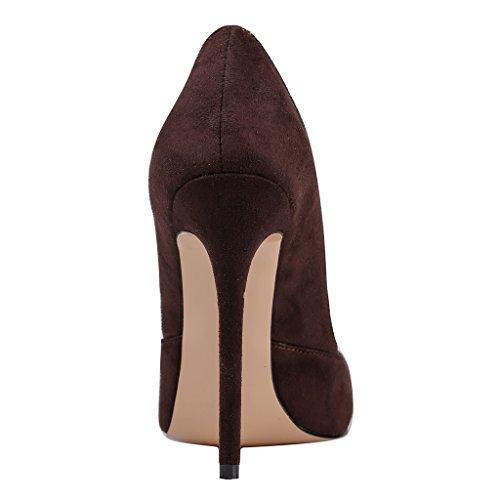 MERUMOTE - Zapatos de tacón fino Mujer - Dunkel Braun-WildlederDunkel Braun