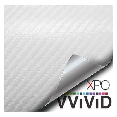 VViViD XPO White Carbon Fiber Car Wrap Vinyl Roll with Air Release Technology (1ft x 5ft): Automotive [5Bkhe0111712]