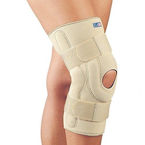 FLA 37-107MDBEG Neoprene Stabilizing Knee Brace With Composite Hinges, Beige, Medium