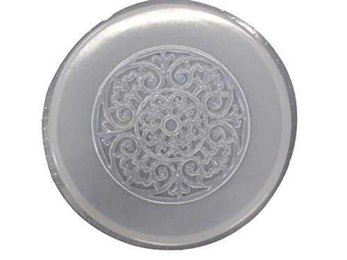 Round Celtic Design Concrete Plaster Stepping Stone Mold 1019