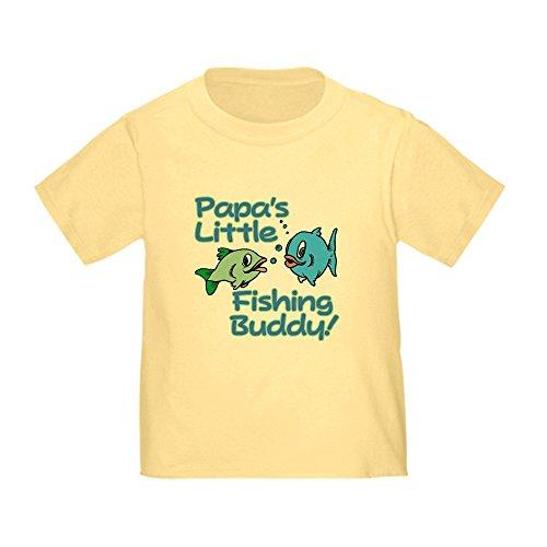 [CafePress - PAPA'S LITTLE FISHING BUDDY! Toddler T-Shir - Cute Toddler T-Shirt, 100% Cotton] (T-shir Fish)
